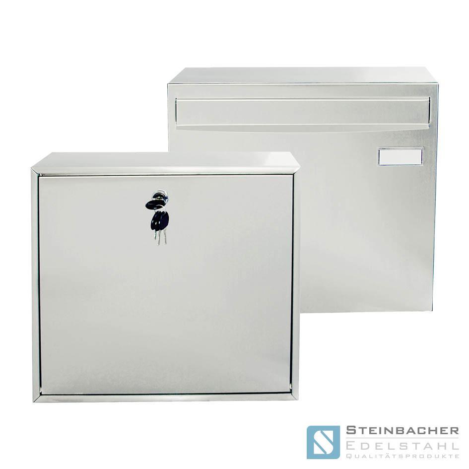 edelstahl briefkasten design postkasten zeitungsfach zeitungsrolle wand mailbox ebay. Black Bedroom Furniture Sets. Home Design Ideas