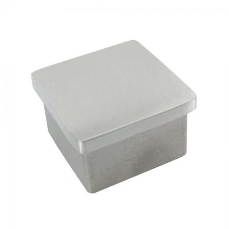 Einsteckkappe Edelstahl, für Vierkantrohre, geschliffen, Größe und Material wählbar