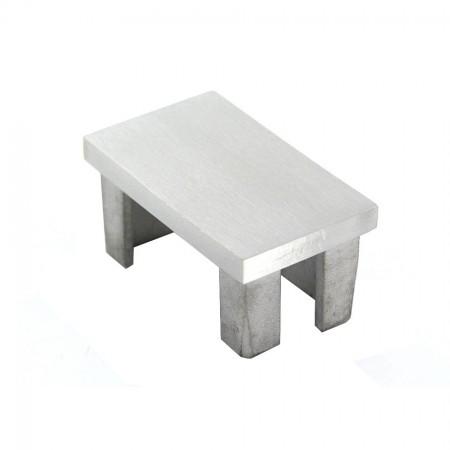 Einsteckkappe V4A, für Rechteckrohre, geschliffen, Größe wählbar