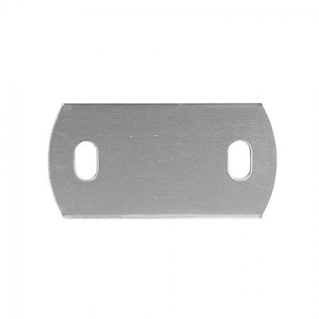 Ankerplatte 120 x 60 x 6 mm, 2 x Langloch 20 x 11mm einseitig geschliffen, Materialstärke frei wählbar