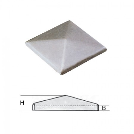 Pfeilerbedecker ST 37 blank, 40 x 40mm, Materialstärke 2mm