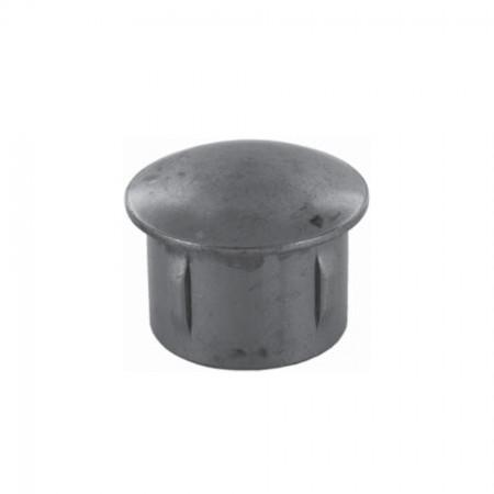 Rohrabschlussstopfen leicht gewölbt zum Einschlagen, ST37 blank, Wandstärke frei wählbar, für Rohr 33,7mm