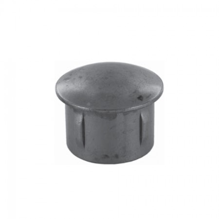Rohrabschlussstopfen leicht gewölbt zum Einschlagen, ST37 blank, Wandstärke frei wählbar, für Rohr 60,3mm