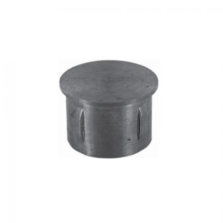 Rohrabschlussstopfen flach zum Einschlagen, ST37 blank, Wandstärke frei wählbar, für Rohr 42,4mm