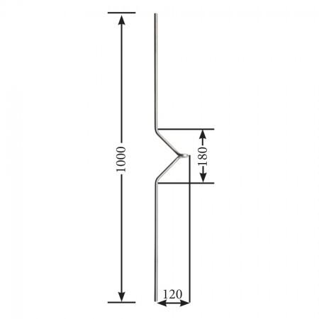 Designstab / Ösenstab V2A, Material Ø 12mm, Länge 1000mm