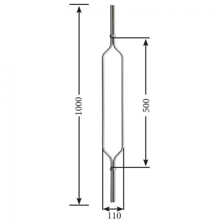 Designstab / Oval eckig V2A, Material Ø 12mm, Länge 1000mm