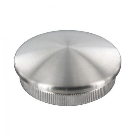 Rohrabschlussstopfen VA, leicht gewölbt zum Einschlagen, Rohrgröße und Material frei wählbar