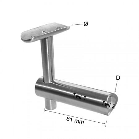 Handlaufhalter für Rohr unsichtbare Verschraubung, Anschlüsse individuell wählbar