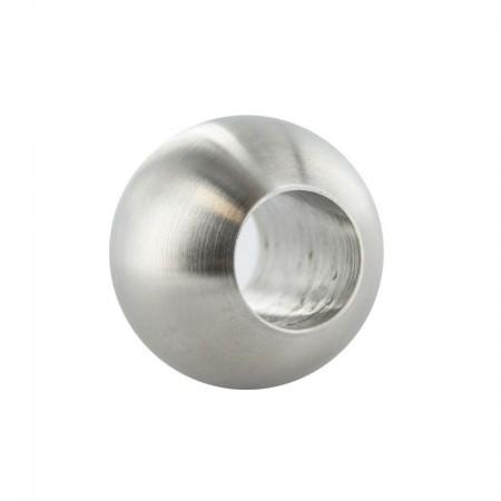 Edelstahlkugel VA geschliffen mit Durchgangsbohrung, Durchmesser Ø und Bohrung frei wählbar