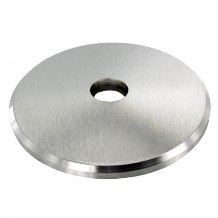 Ronde V2A, einseitig geschliffen, Durchmesser Ø 58-70mm