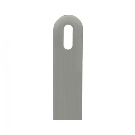 Anschweißlasche V2A, Oberfläche geschliffen, 100 x 30mm Langloch, Materialstärke 6mm