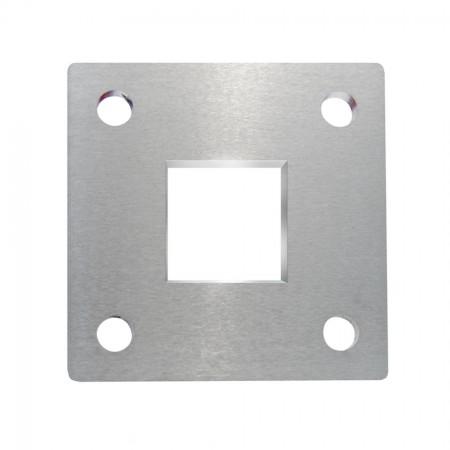 Ankerplatte 92 x 92 x 6mm für Vierkantrohr 40 x 40mm, Materialstärke frei wählbar