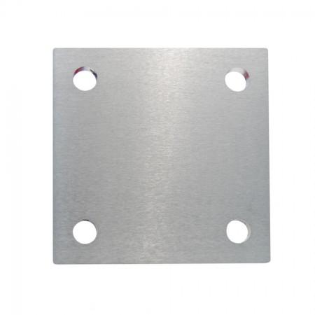 Ankerplatte V2A, einseitig geschliffen, Größe und Materialstärke wählbar