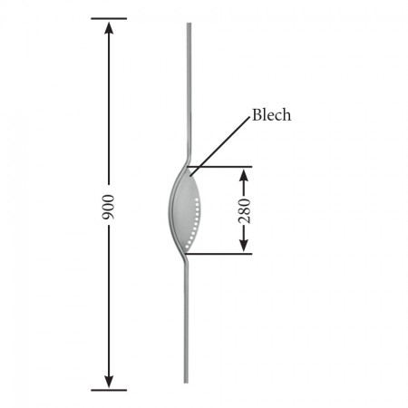 Designstab / Zierstab V2A, Material Ø 12mm, Länge 900mm