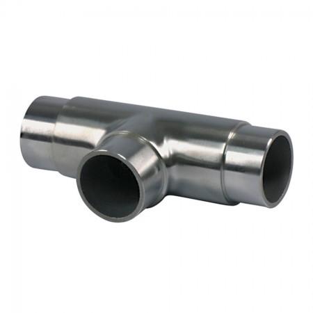 Edelstahl T-Stück mit gleichem Abgang  V2A, Rohrgröße frei wählbar