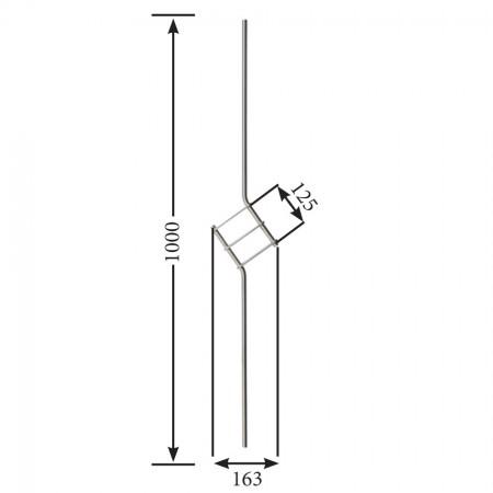 Designstab / Zierstab V2A, Material Ø 12mm, Länge 1000mm