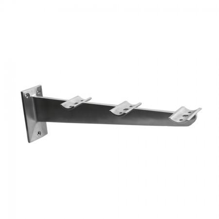 Tablettrutschenträger V2A, Länge 330mm,  für Rohr 33,7mm
