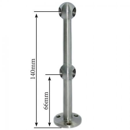 Edelstahl StabhalterV2A doppelte Endstütze 45° , Geländer Traversenhalter