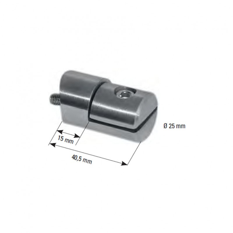 blechhalter v2a 25mm anschluss f r 42 4mm gewinde m6 f r blech 1 5 2 5mm. Black Bedroom Furniture Sets. Home Design Ideas