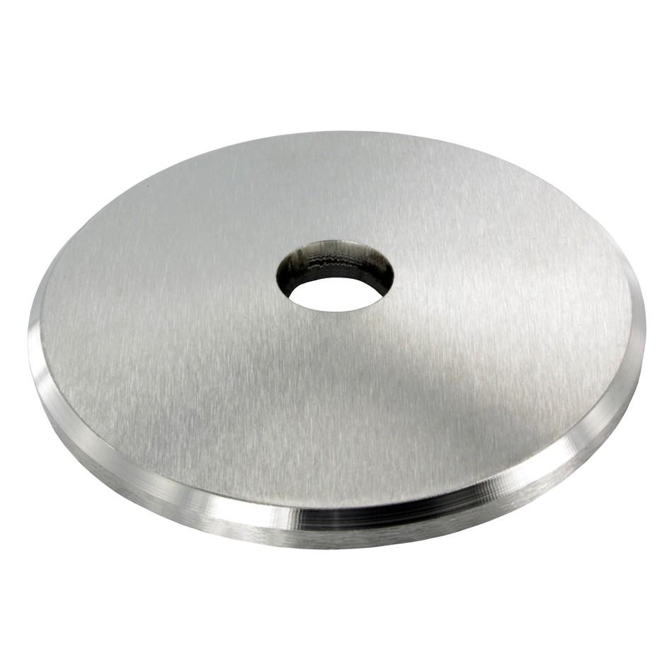 Ronde gewölbt Ø 70 x 5 Edelstahl Mittelloch 10 mm 2 /& 3 Loch geschliffen Platte