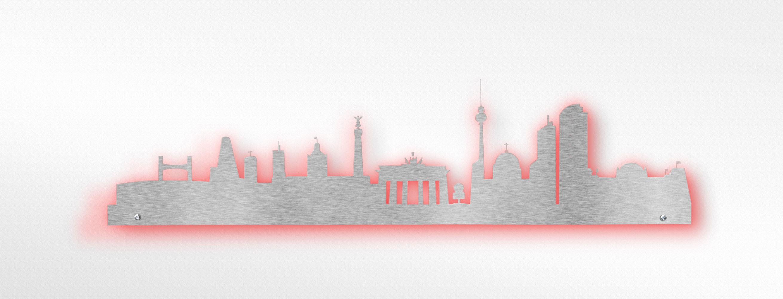Edelstahl Wandtattoo   Skyline Berlin