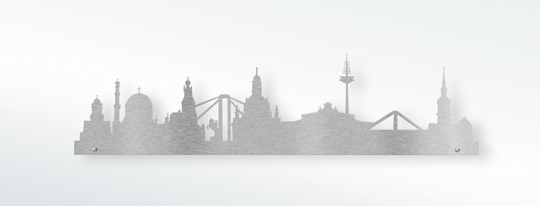 Wunderschön Skyline Dresden Sammlung Von Edelstahl Wandtattoo -