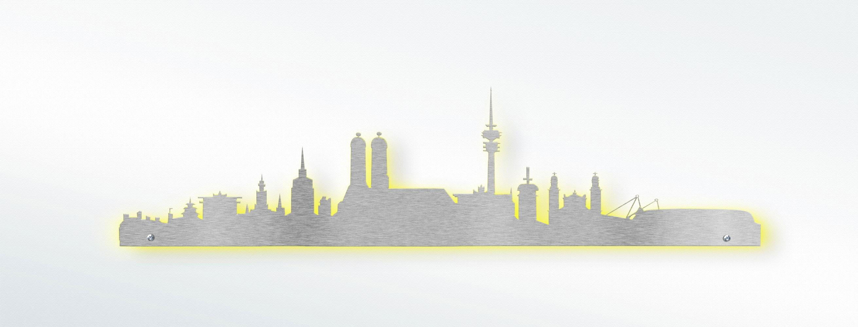 edelstahl design wandtattoo skyline m nchen jetzt online bestellen. Black Bedroom Furniture Sets. Home Design Ideas