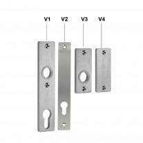 Langschild / Kurzschild V2A für Schlosskästen frei wählbar