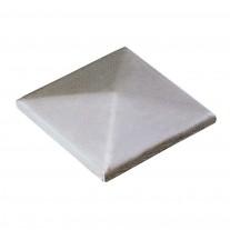 Pfeilerbedecker ST 37 blank, 120 x 120mm, Materialstärke 2mm