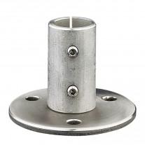 Wand/Bodenhalter Edelstahl V2A, für Rohr 42,4mm, Ronde Flansch Ankerplatte