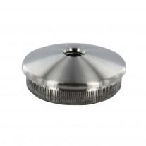 Rohrabschlussstopfen VA, leicht gewölbt zum Einschlagen, mit Innengewinde M8, Rohrgröße und Material frei wählbar