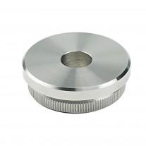 Rohrabschlussstopfen V2A, Vollmaterial, flach zum Einschlagen, mit Durchgangsbohrung 12,1mm, Rohrgröße frei wählbar