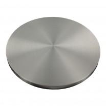 Ronde einseitig geschliffen, Rundschliff mit Fase, V2A, Durchmesser Ø individuell zwischen 30 - 150mm wählbar