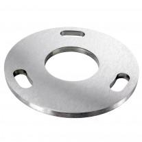 Ronde Ankerplatte V2A, Durchmesser Ø und Mittelbohrung frei wählbar von 34 - 61mm
