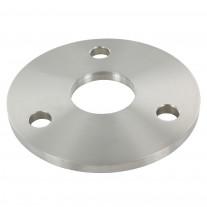 Ankerplatte V2A, einseitig geschliffen, Schliff - Durchmesser Ø und Bohrung wählbar