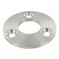 Ankerplatte 100 x 6mm, 3 Bohrungen á 11mm, Mittelbohrung 42,8mm, überdreht, Schliff wählbar