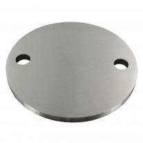 Ankerplatte V2A, einseitig geschliffen, Schliff - Materialstärke, Durchmesser Ø und Bohrung wählbar