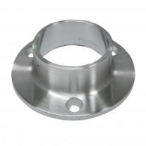 Edelstahl Ankerplatte V2A geschliffen, Rohrgröße und Material frei wählbar