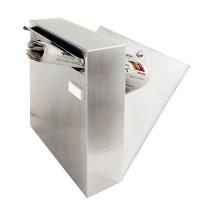 Zaunfeldbriefkasten V2A, inkl. 3 Schlüssel, Modell 02