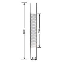 Designstab / Lochblech V2A, Material Ø 12mm, Länge 1000mm
