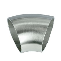 Edelstahl Schweißfitting 45° Bogen, geschliffen Korn 240 V2A, Rohrgröße frei wählbar
