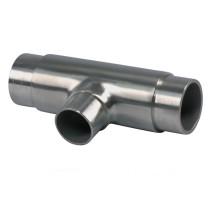 Edelstahl T-Stück mit reduziertem Abgang  V2A, Rohrgröße  33,7 + 42,4mm